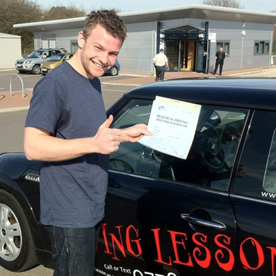 Image of Daniel Winch with pass certificate - Revolution Driving School