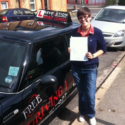 Image of Hannah Scholes with pass certificate - Revolution Driving School