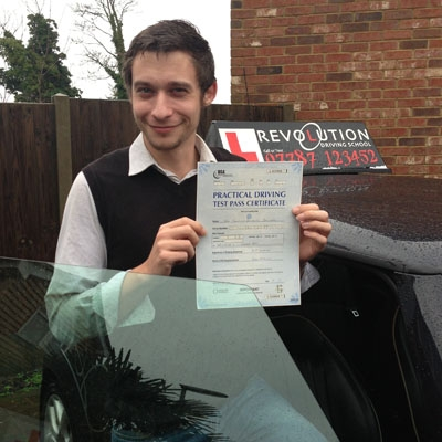 Image of Tim Stallard with pass certificate - Revolution Driving School